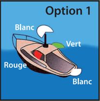 feux de navigation pour bateaux à moteur de 12 m à 50 m